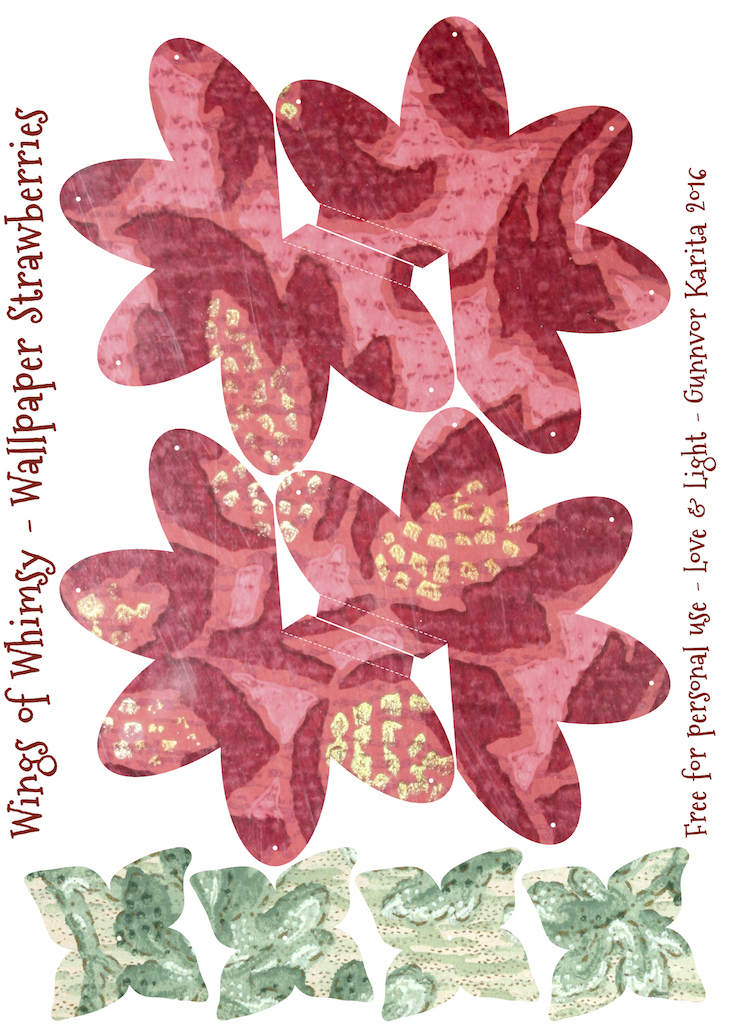 Wings of Whimsy: Wallpaper Strawberry Basket No 1 #vintage #ephemera #freebie #printable #strawberry #basket