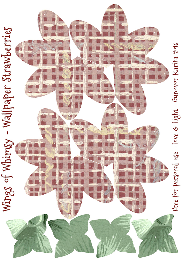 Wings of Whimsy: Wallpaper Strawberry Basket No 2 #vintage #ephemera #freebie #printable #strawberry #basket