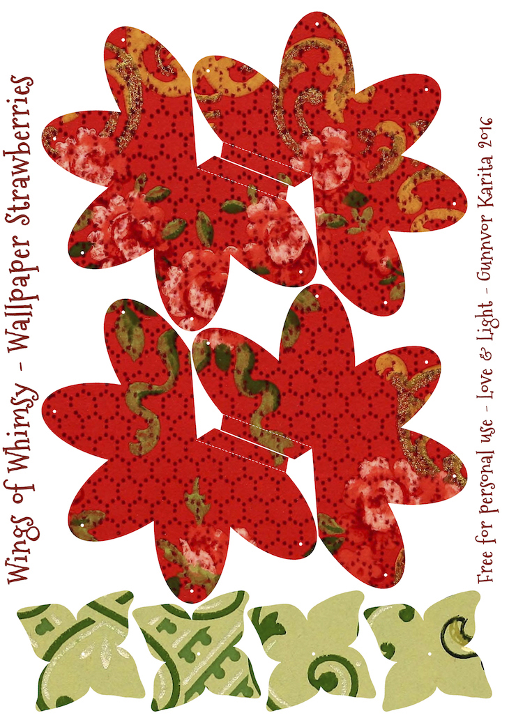 Wings of Whimsy: Wallpaper Strawberry Basket No 3 #vintage #ephemera #freebie #printable #strawberry #basket