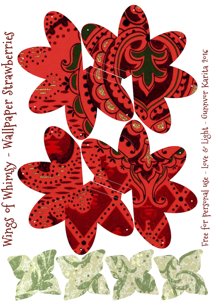 Wings of Whimsy: Wallpaper Strawberry Basket No 5 #vintage #ephemera #freebie #printable #strawberry #basket