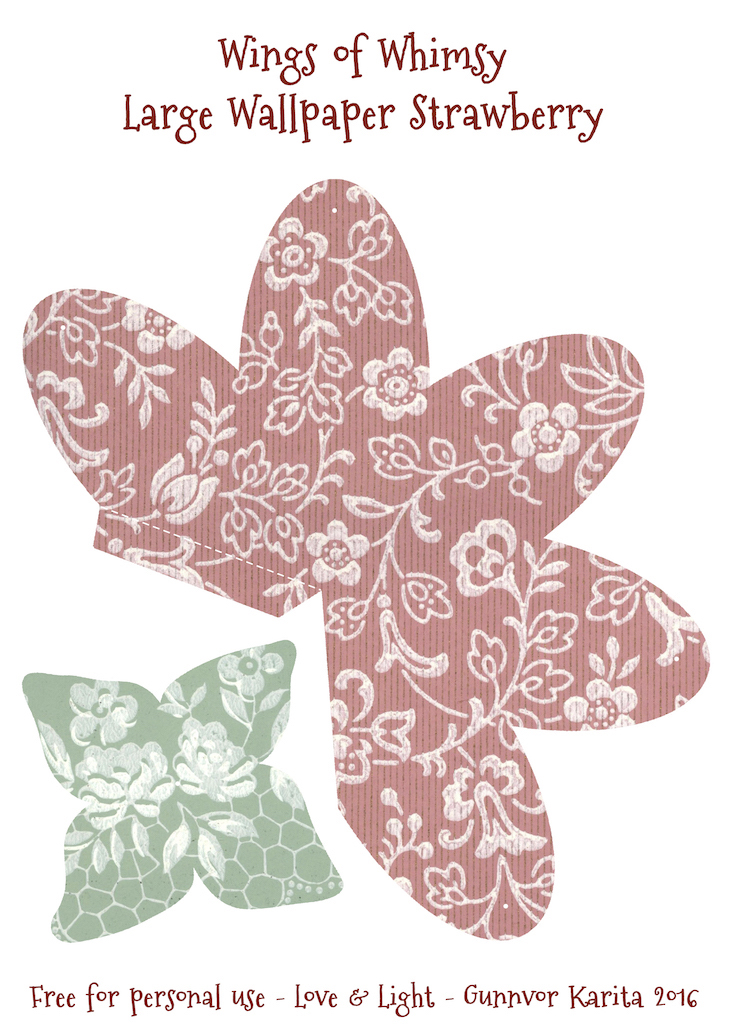 Wings of Whimsy: Wallpaper Strawberry Basket No 6 #vintage #ephemera #freebie #printable #strawberry #basket