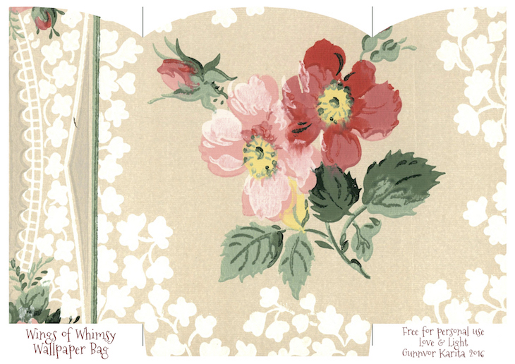Wings of Whimsy: Wallpaper Gift Bags No 4 #vintage #ephemera #freebie #printable #gift #bag kopi