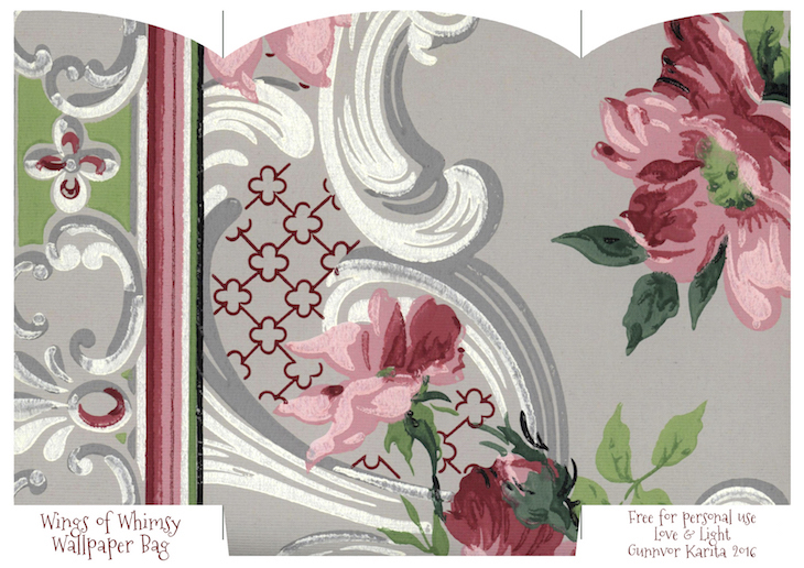 photo about Printable Gift Bags called Typical Wallpaper Reward Baggage No 5 of 6 Wings of Whimsy