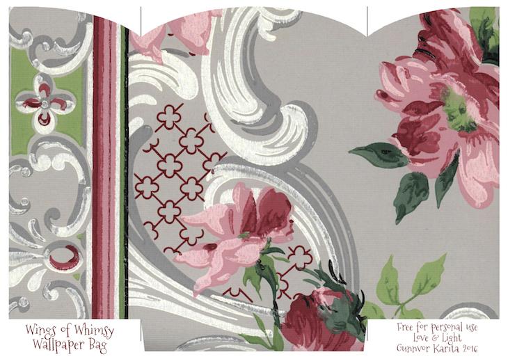 Wings of Whimsy: Wallpaper Gift Bags No 5 #vintage #ephemera #freebie #printable #gift #bag kopi
