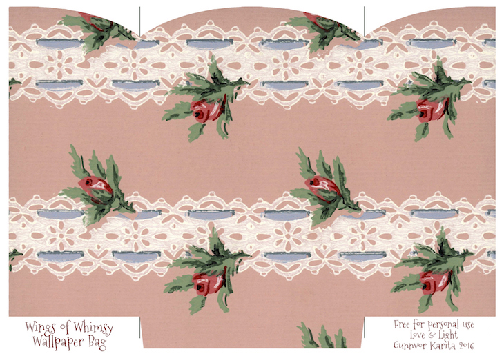 Wings of Whimsy: Wallpaper Gift Bags No 6 #vintage #ephemera #freebie #printable #gift #bag kopi