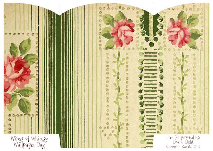 Wings of Whimsy: Wallpaper Gift Bags No 2 #vintage #ephemera #freebie #printable #gift #bag