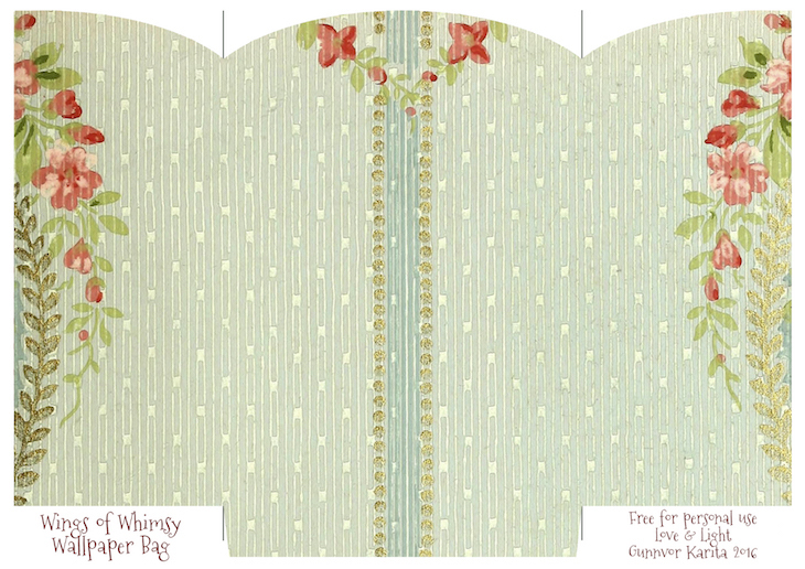 photograph about Printable Gift Bags called Traditional Wallpaper Reward Luggage No 2 of 6 Wings of Whimsy