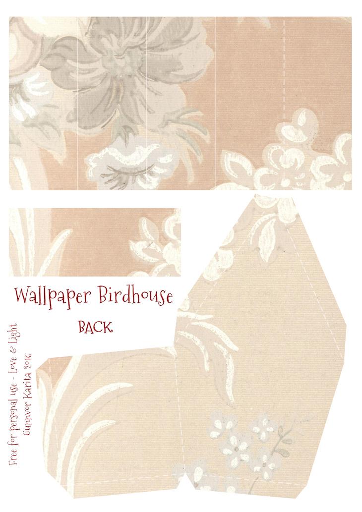 Wings of Whimsy: Wallpaper Birdhouse No 22 Back #vintage #ephemera #freebie #printable #wallpaper #bird #house