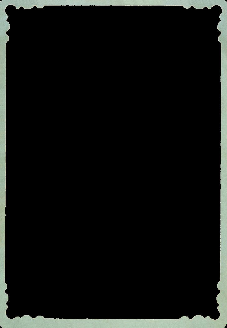 Wings of Whimsy: Green Frame PNG-file (transparent background) #vintage #ephemera #freebie #printable #frame
