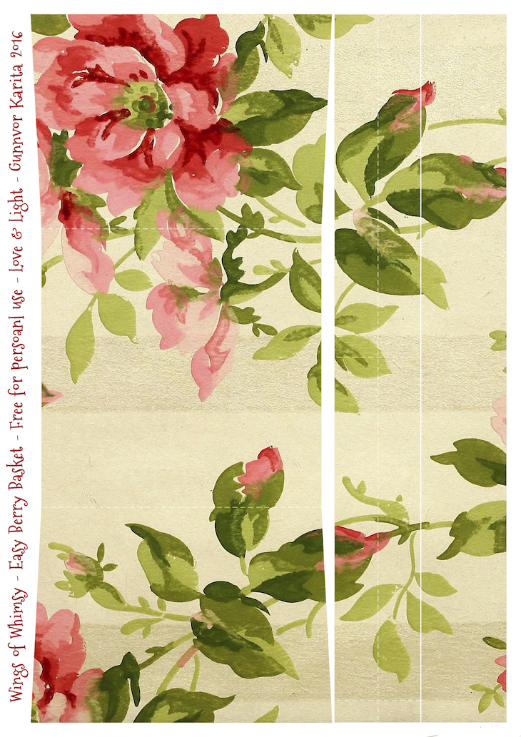 Wings of Whimsy: Berry Basket 12A #freebie #printable #vintage #wallpaper #berry #basket