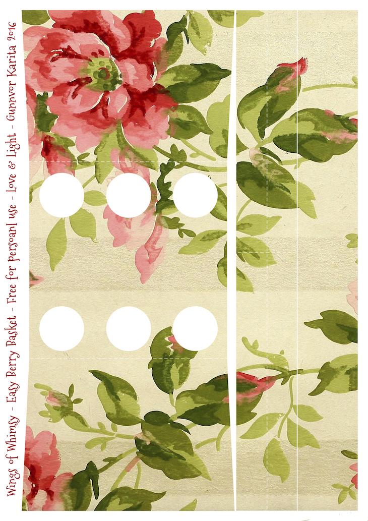 Wings of Whimsy: Berry Basket 12B #freebie #printable #vintage #wallpaper #berry #basket
