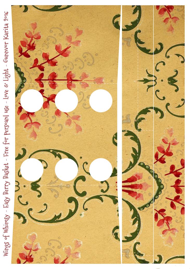 Wings of Whimsy: Berry Basket 13B #freebie #printable #vintage #wallpaper #berry #basket