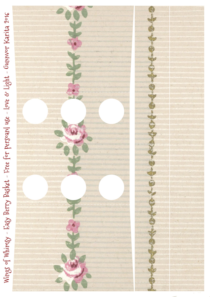 Wings of Whimsy: Berry Basket 14B #freebie #printable #vintage #wallpaper #berry #basket