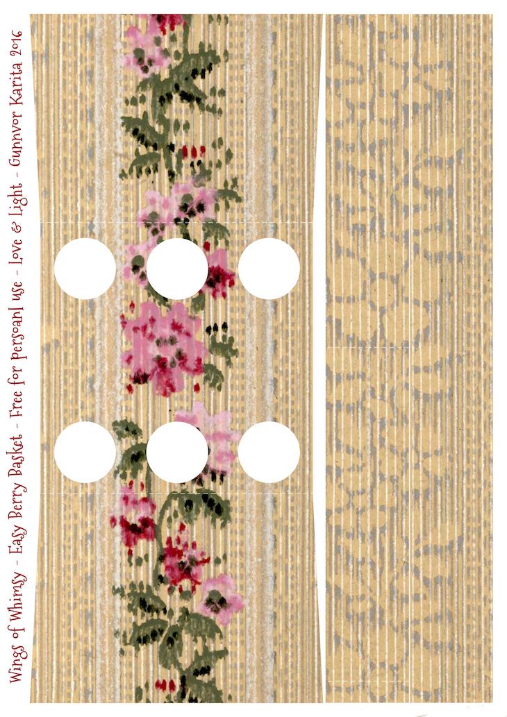 Wings of Whimsy: Berry Basket 15B #freebie #printable #vintage #wallpaper #berry #basket