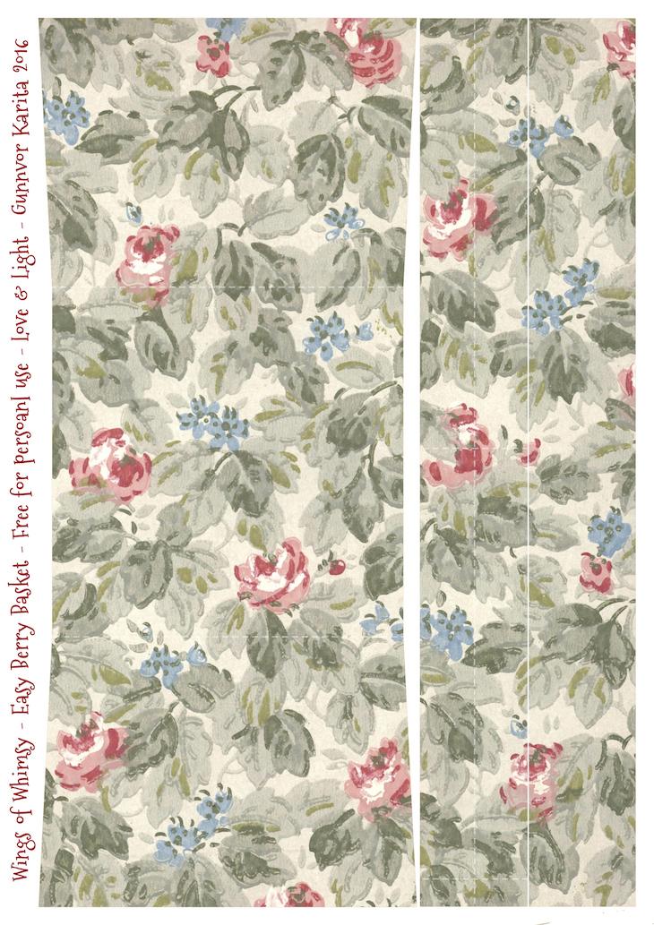 Wings of Whimsy: Berry Basket 16A #freebie #printable #vintage #wallpaper #berry #basket