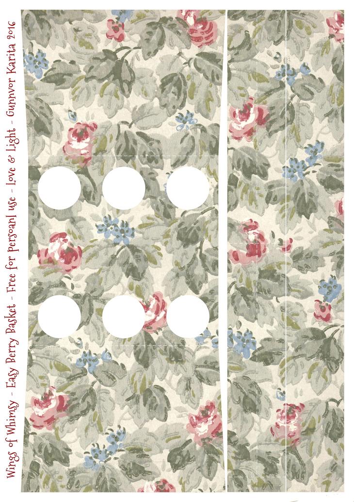 Wings of Whimsy: Berry Basket 16B #freebie #printable #vintage #wallpaper #berry #basket