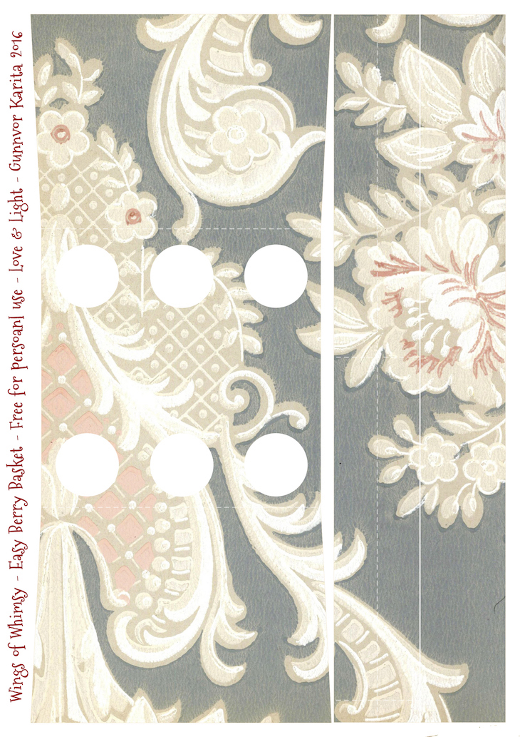 Wings of Whimsy: Berry Basket 2B #freebie #printable #vintage #wallpaper #berry #basket