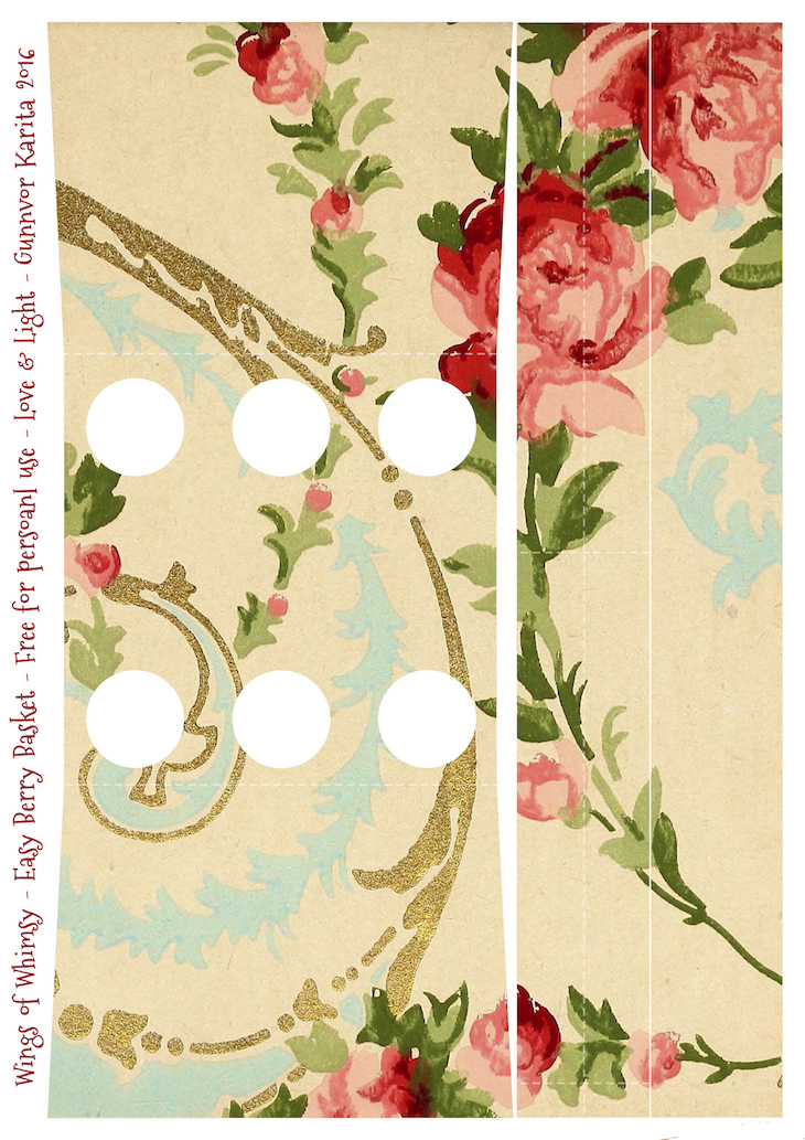 Wings of Whimsy: Berry Basket 7B #freebie #printable #vintage #wallpaper #berry #basket