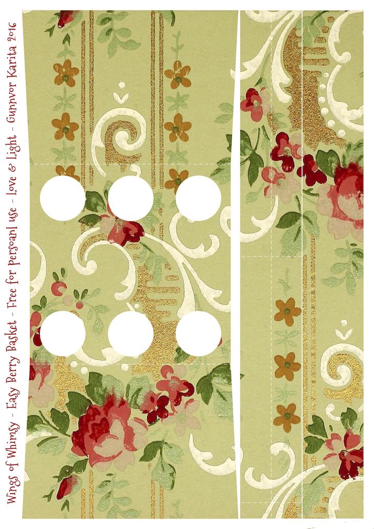 Wings of Whimsy: Berry Basket 8B #freebie #printable #vintage #wallpaper #berry #basket