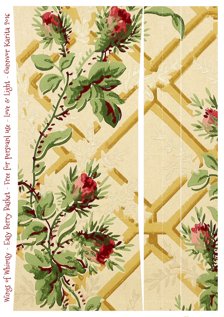 Wings of Whimsy: Berry Basket 9A #freebie #printable #vintage #wallpaper #berry #basket