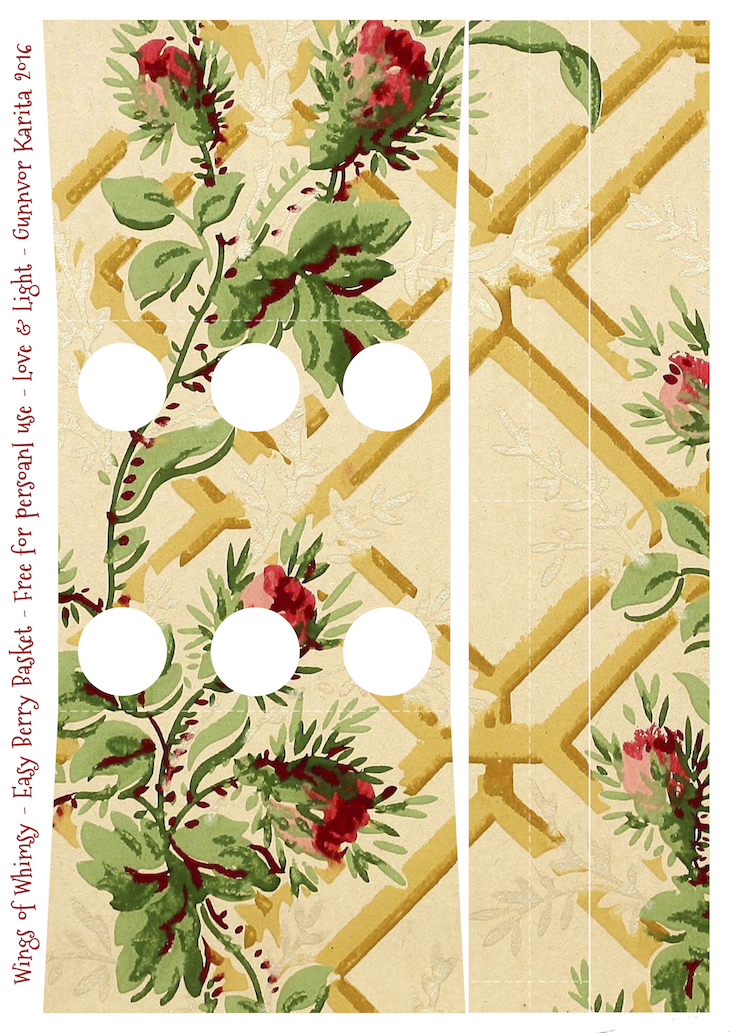 Wings of Whimsy: Berry Basket 9B #freebie #printable #vintage #wallpaper #berry #basket