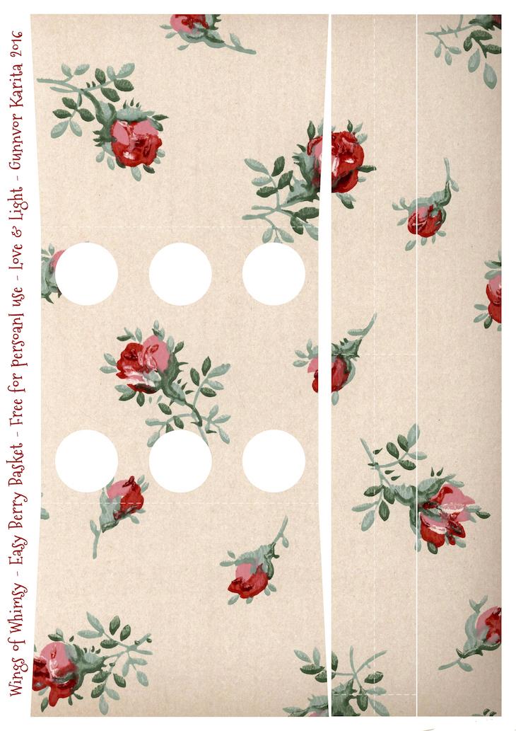 Wings of Whimsy: Berry Basket 23B #freebie #printable #vintage #wallpaper #berry #basket