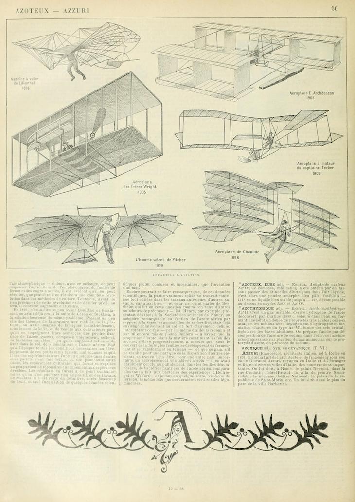 Wings of Whimsy: Noveau Larousse Illustré - A #vintage #french #dictionary #alphabet #capital #initial