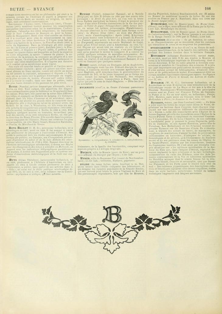 Wings of Whimsy: Noveau Larousse Illustré - B #vintage #french #dictionary #alphabet #capital #initial-kopi
