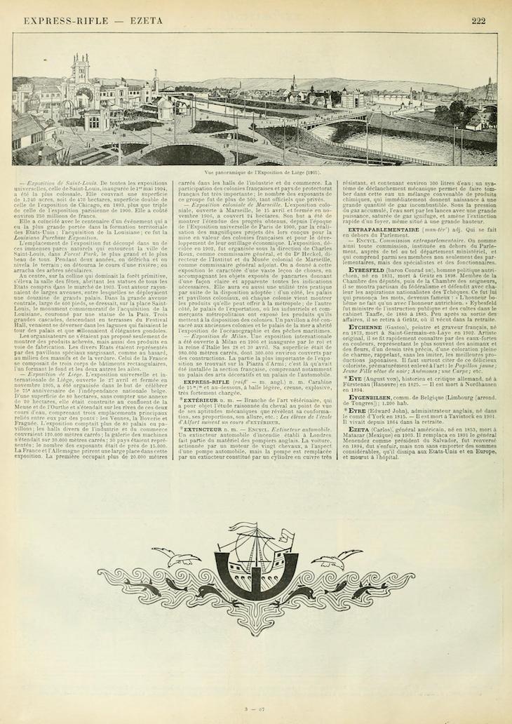 Wings of Whimsy: Noveau Larousse Illustré - E #vintage #french #dictionary #alphabet #capital #initial