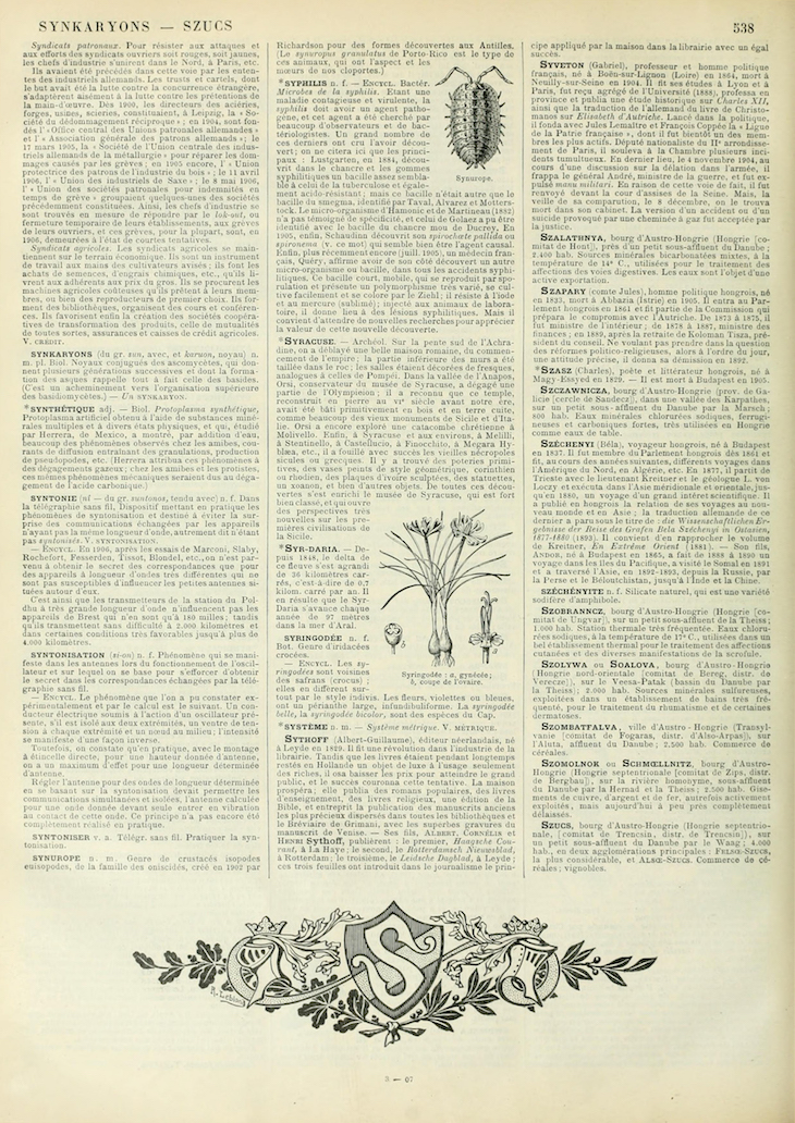 Wings of Whimsy: Noveau Larousse Illustré - S #vintage #french #dictionary #alphabet #capital #initial