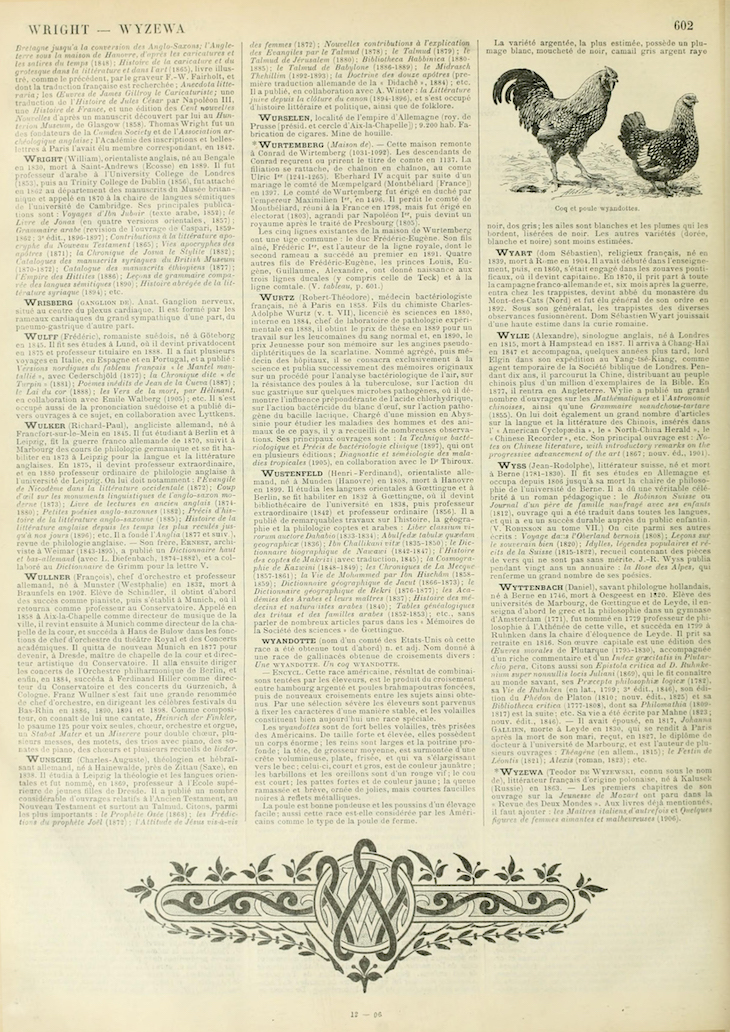 Wings of Whimsy: Noveau Larousse Illustré - W #vintage #french #dictionary #alphabet #capital #initial