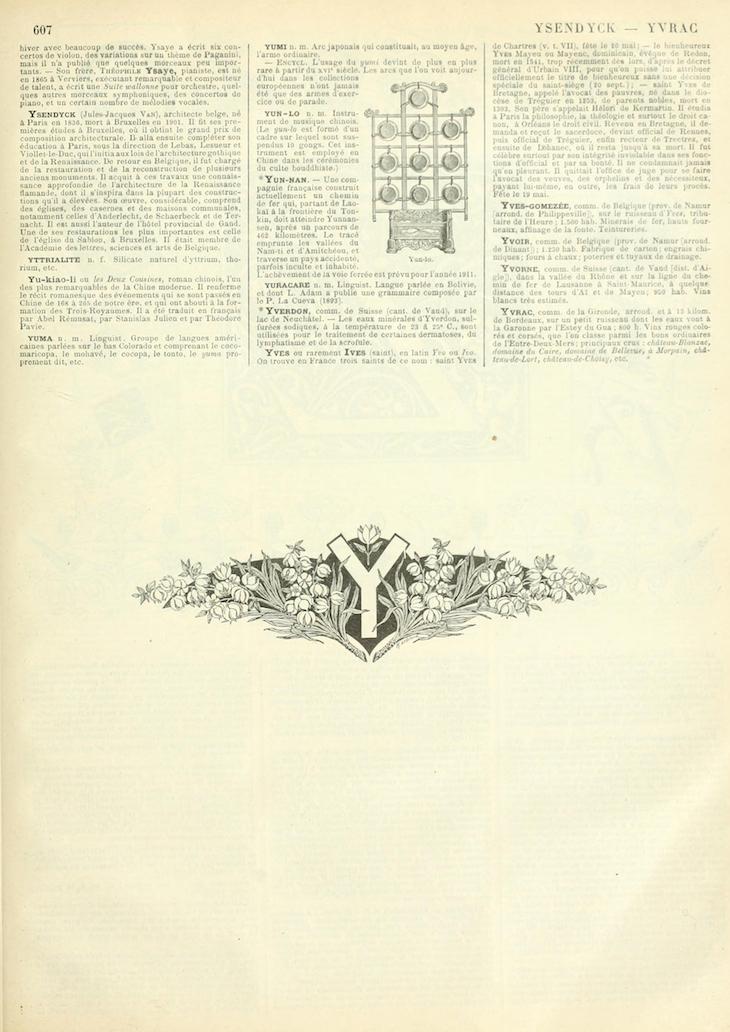 photograph regarding Printable Vintage Dictionary Pages identified as Noveau Larousse Illustré Y French Dictionary Web pages