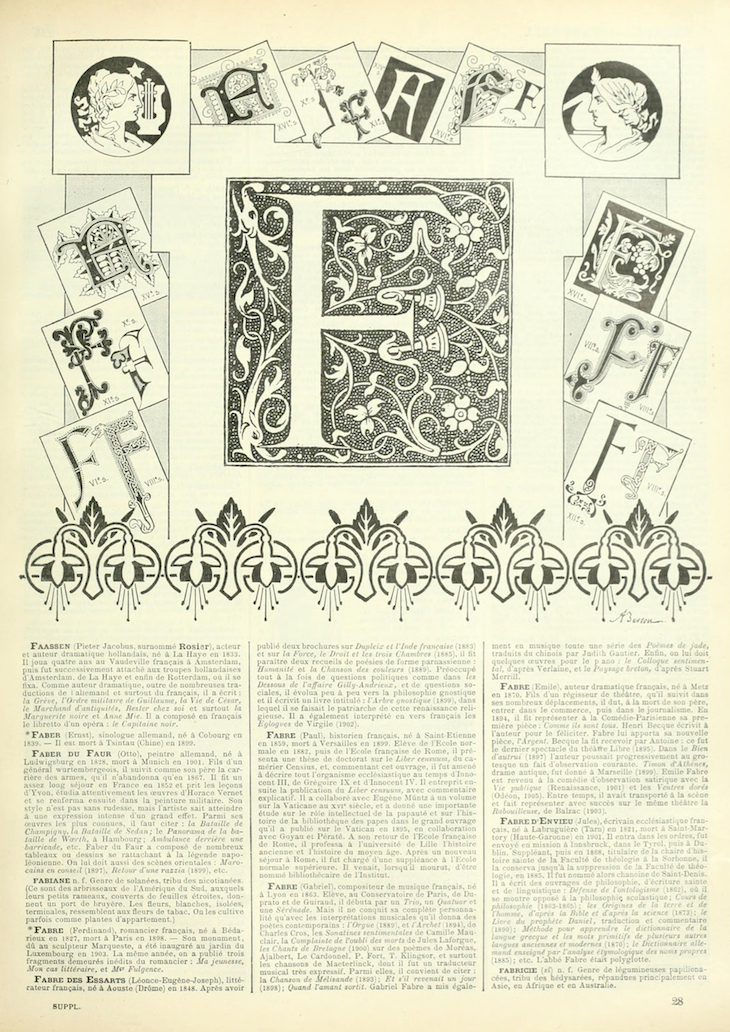 Wings of Whimsy: Noveau Larousse Illustré - F #vintage #french #dictionary #alphabet #capital #initial