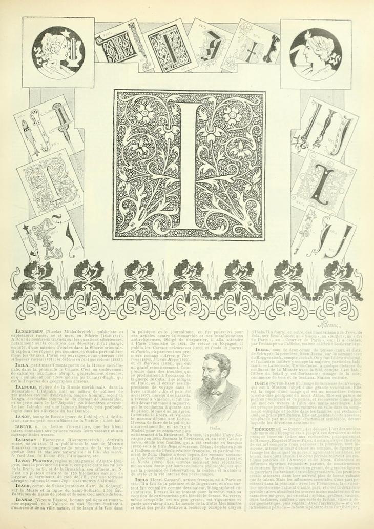 Wings of Whimsy: Noveau Larousse Illustré - I #vintage #french #dictionary #alphabet #capital #initial