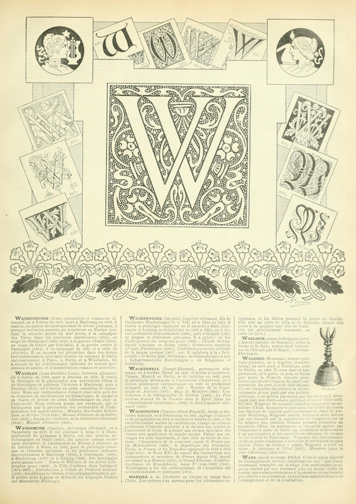 Wings of Whimsy: Noveau Larousse Illustré - W #vintage #french #dictionary #alphabet #capital #initial