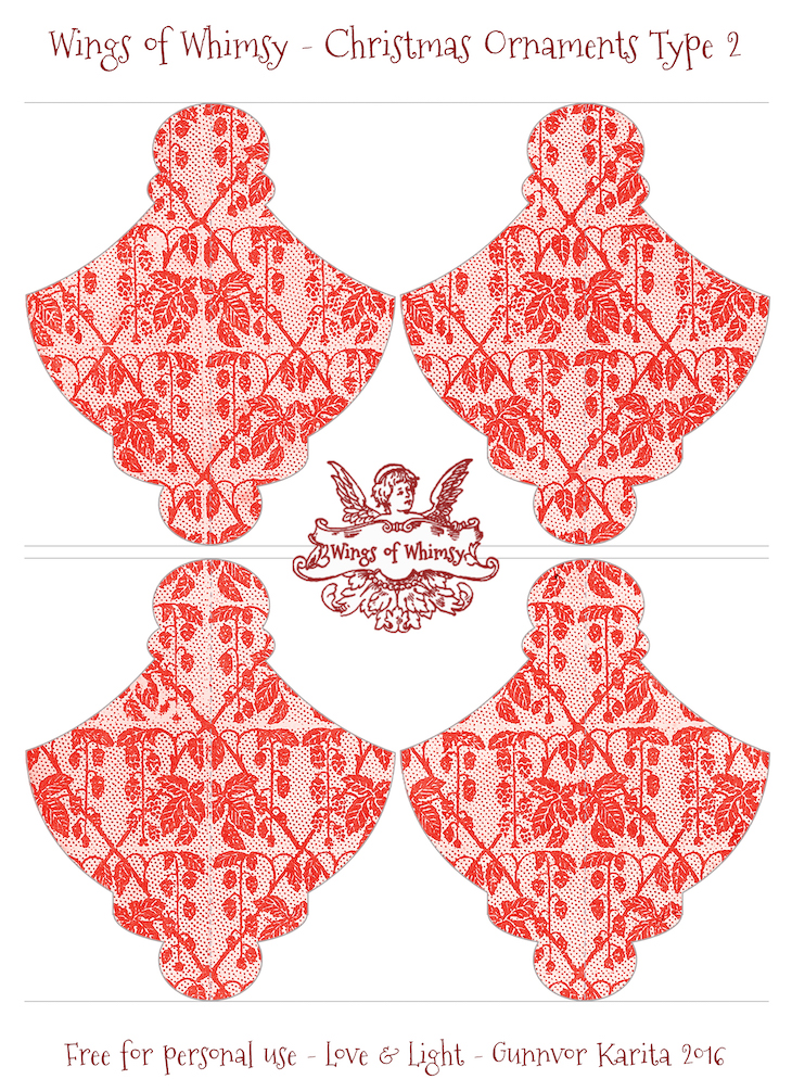 Wings of Whimsy: Christmas Ornament Type 2 #vintage #ephemera #freebie #christmas #ornament