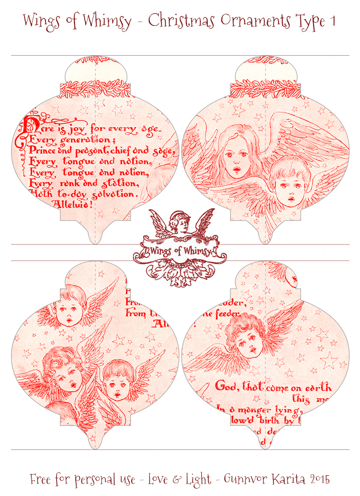 Wings of Whimsy: Christmas Ornament Type 1 #vintage #ephemera #freebie #christmas #ornament-kopi
