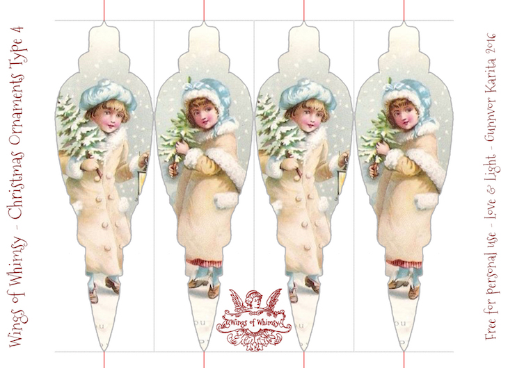 Wings of Whimsy: Christmas Ornament Type 4 #vintage #ephemera #freebie #christmas #ornament-kopi