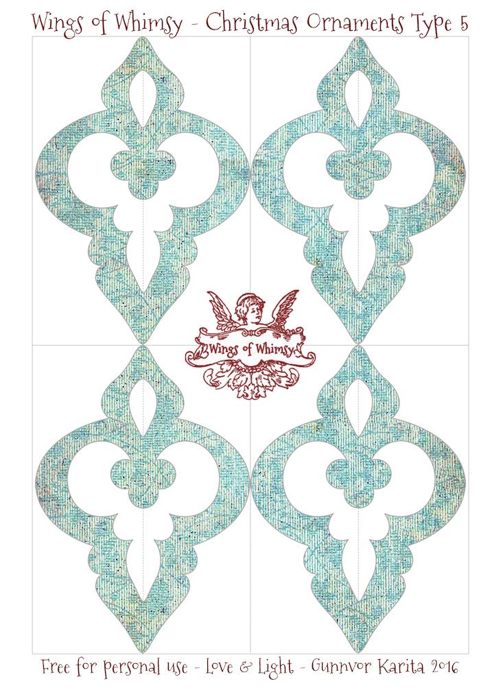 Wings of Whimsy: Christmas Ornament Type 5 #vintage #ephemera #freebie #christmas #ornament