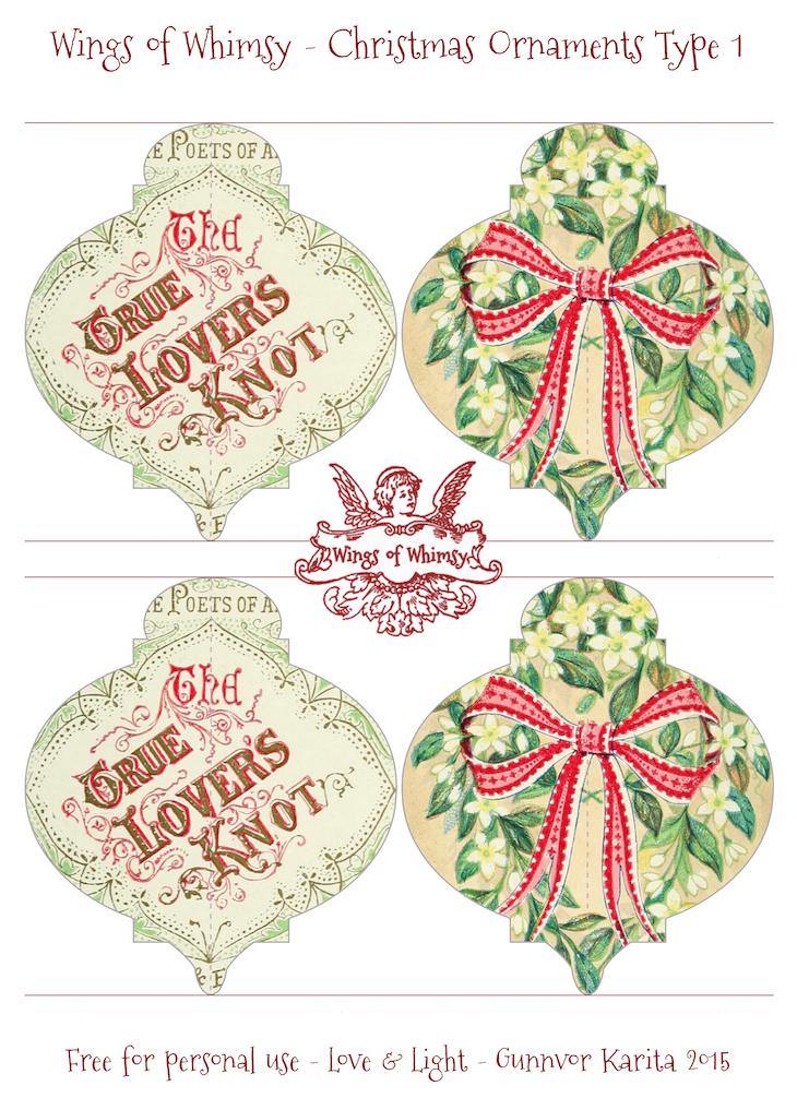 Wings of Whimsy: Christmas Ornament Type 1 #vintage #ephemera #freebie #christmas #ornament