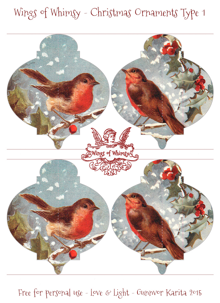 Wings of Whimsy: Christmas Ornament Type 1 #vintage #ephemera #freebie #christmas #ornament