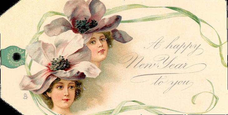 Wings of Whimsy: Christmas Ladies 1902 - Frances Brundage Tags #freebie #ephemera #printable #christmas #ladies #brundage-kopi