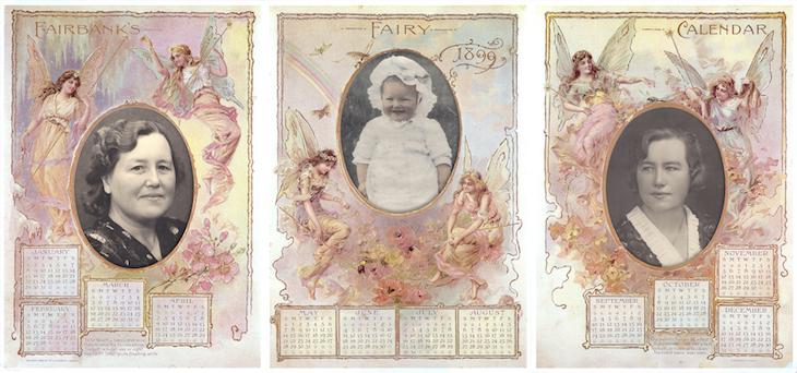 Wings of Whimsy: Fairbanks Fairy Soap 1899 Calendar #vintage #ephemera #freebie #printable #calendar #frame #photo #mat #album