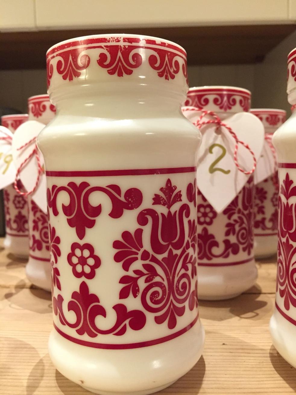 Wings of Whimsy: Vintage Milk Glass Jar #thrifted #vintage #norwegian #folklore