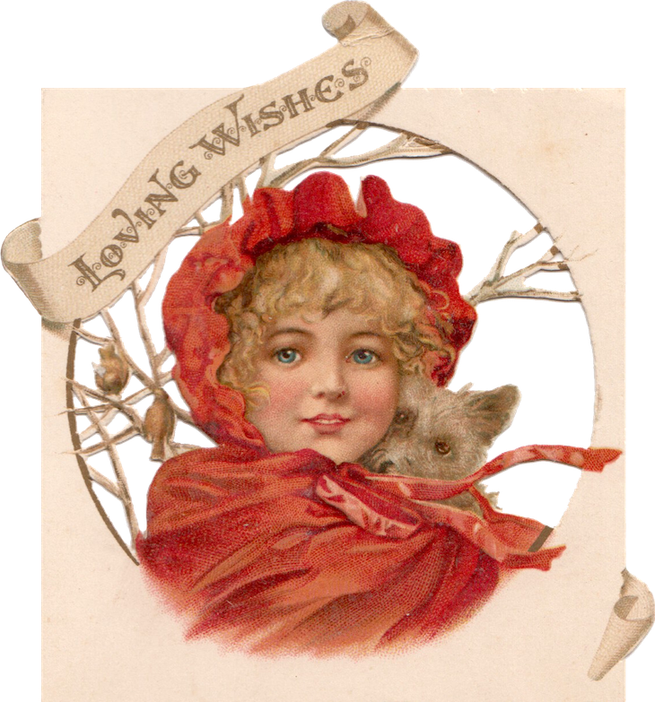 Wings of Whimsy: Loving Wishes Chrismas Girl PNG-file #vintage #christmas #freebie #girl #png