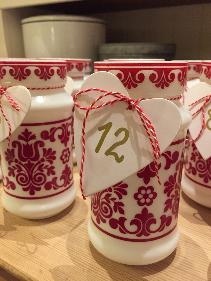 Wings of Whimsy: Milk Glass Advent Calendar #thrifted #vintage #advent #calendar
