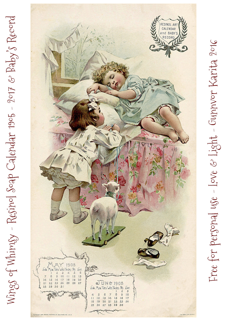 Baby Calendar May : Calendar sunday resinol soap and baby s