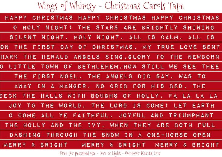 Wings of Whimsy: Christmas Carols Tape English #freebie #vintage #ephemera #printable #christmas #carols