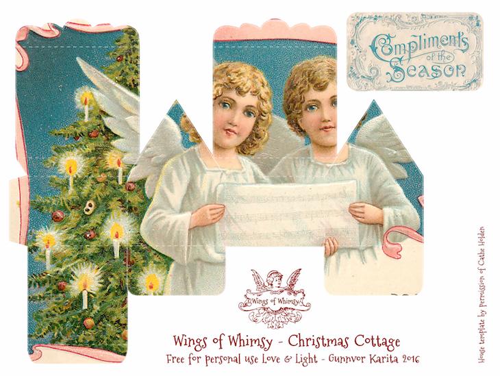 Wings of Whimsy: 100 Christmas Cottages #freebie #ephemera #printable #christmas #cottage-kopi