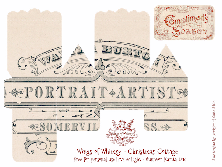 Wings of Whimsy: 100 Christmas Cottages #freebie #ephemera #printable #christmas #cottage-kopi